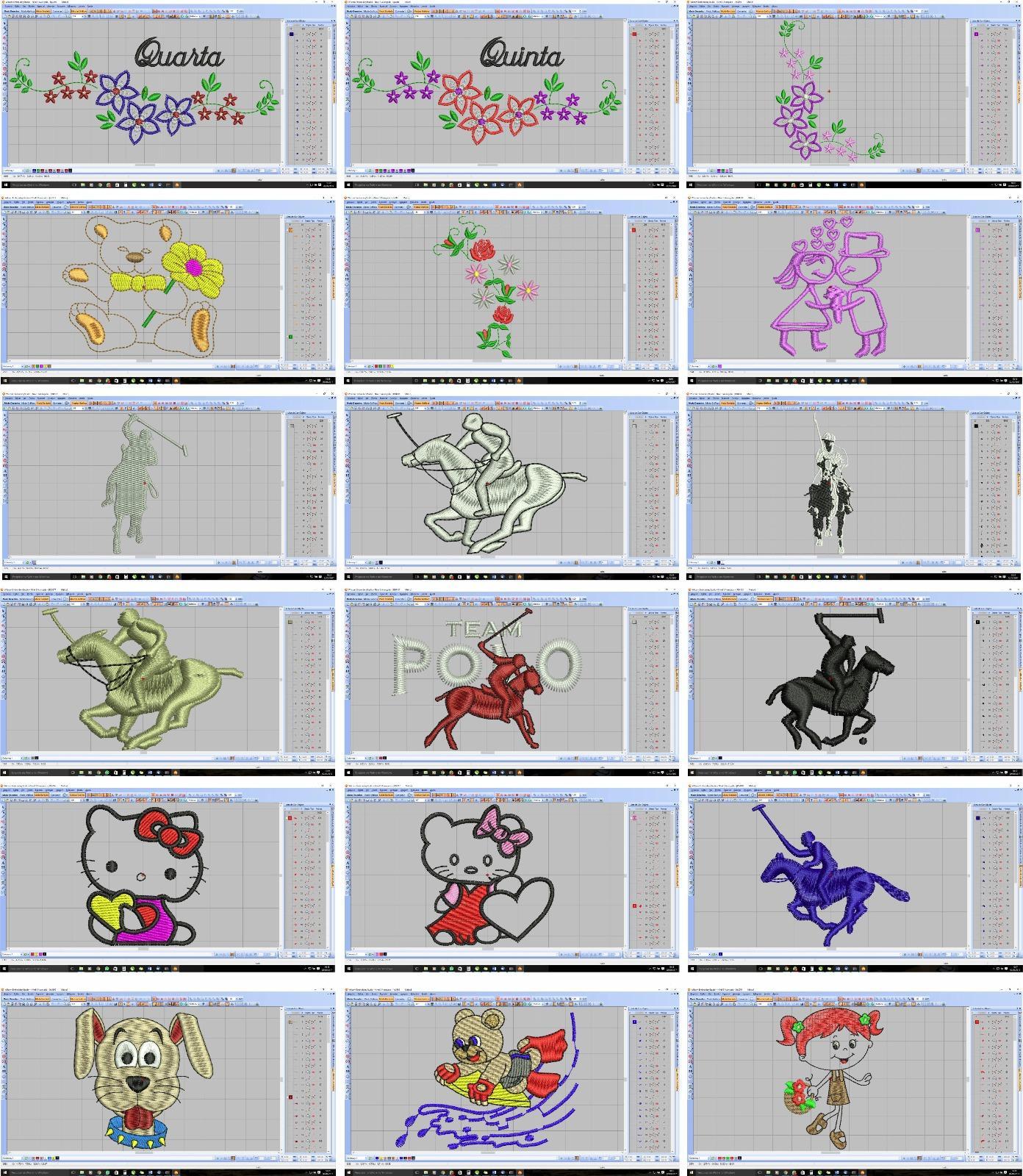 Pacote 100 matrizes de bordados PES