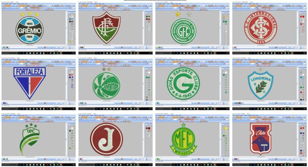 Pacote de Matrizes Futebol mais Patchwork